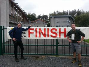 The Larkins at the Finish