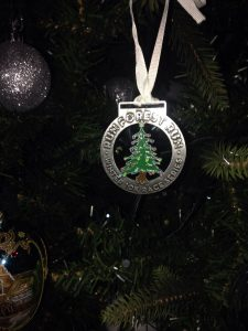 Tollymore Medal Makes an Ideal Christmas Decoration!