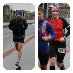 Dale & Graeme Running the Carrick Costal Marathon