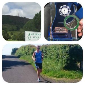 Dale at the Knockagh Marathon.