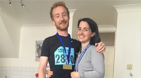 Noel & Marcy ran the Galway Bay Half Marathon